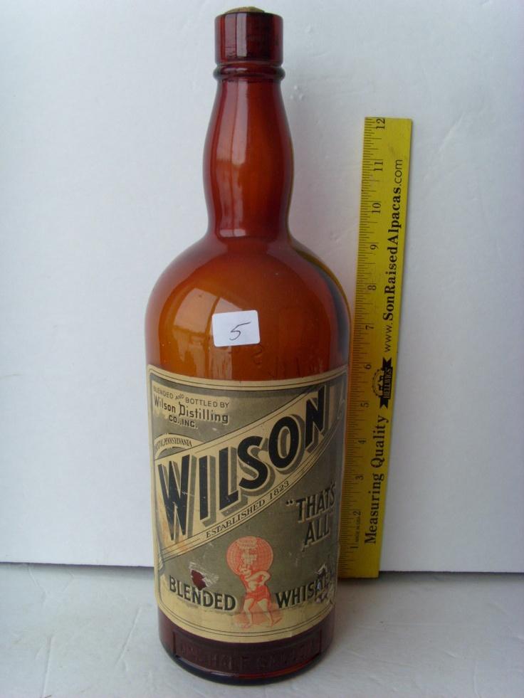 vintage whiskey bottle eBay
