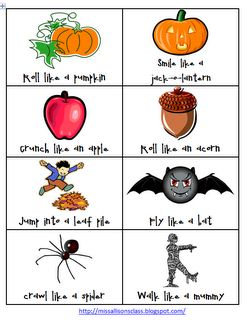 Miss Allison's Class: Fall and Halloween Gross Motor Movements FREEBIE
