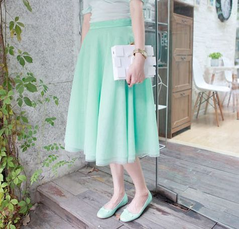 Carrie Mint Mesh Midi Skirt $65.00 http://www.helloparry.com/collections/new-arrival/products/carrie-mint-mesh-midi-skirt