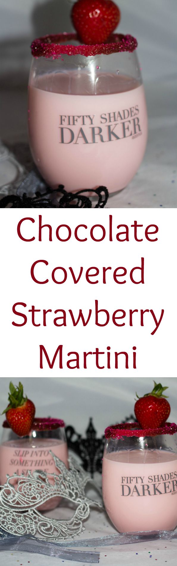 Indulge in a chocolate covered strawberry martini this weekend for a Girls Night In with #FiftyShadesDarker. #ad