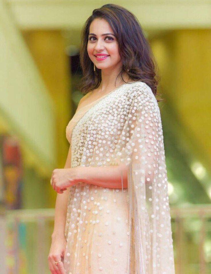 Rakul Preet Photos In White Saree At Cinemaa Awards  actress rakul preet singh