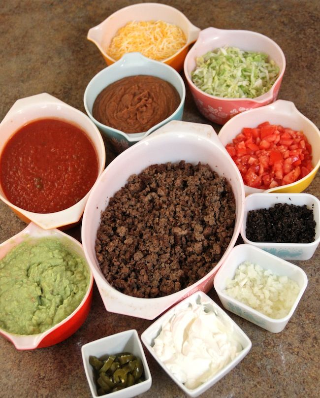 Mexican Pile on. Serving up some fiesta food for football.