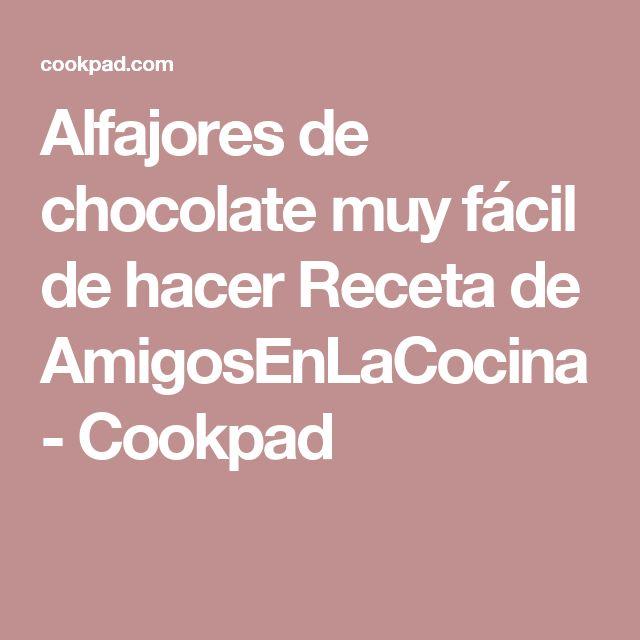 Alfajores de chocolate muy fácil de hacer Receta de AmigosEnLaCocina - Cookpad