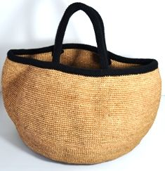 Simplet bucket natural - black XXL NORO