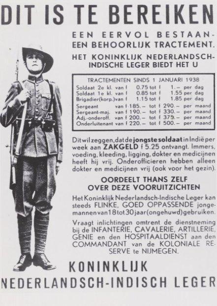 Werving voor het KNIL, 1938