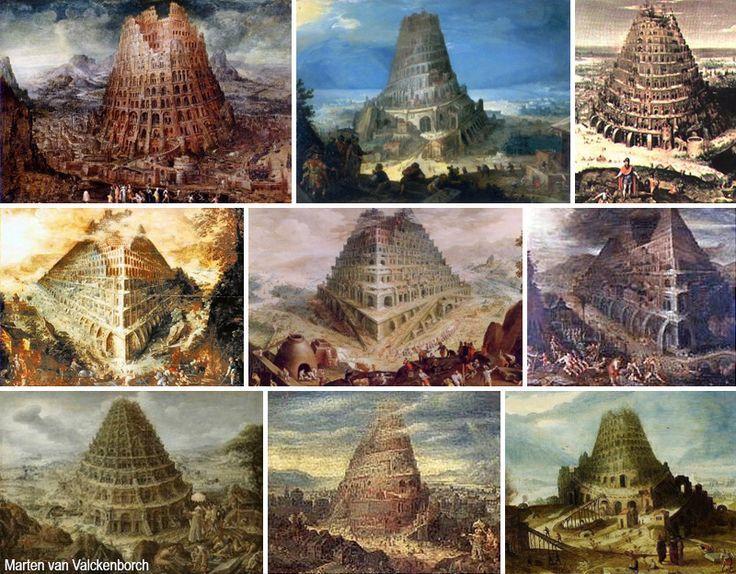 La torre di Babele, iconografia di un mito senza tempo – DidatticarteBlog.  Marten van Valckenborch  (1535-1612).