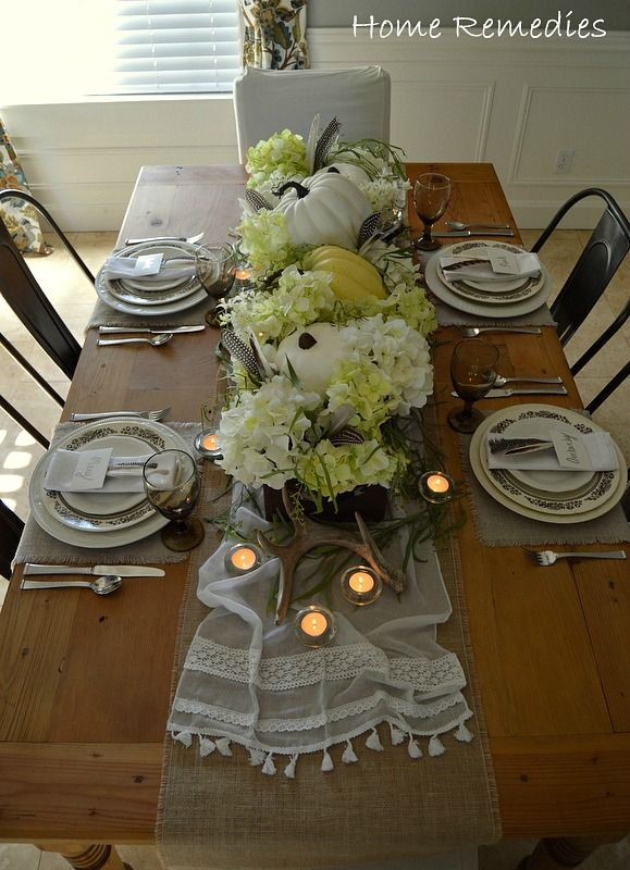 A Rustic Thanksgiving Table Setting   From HomeRemediesRx.com