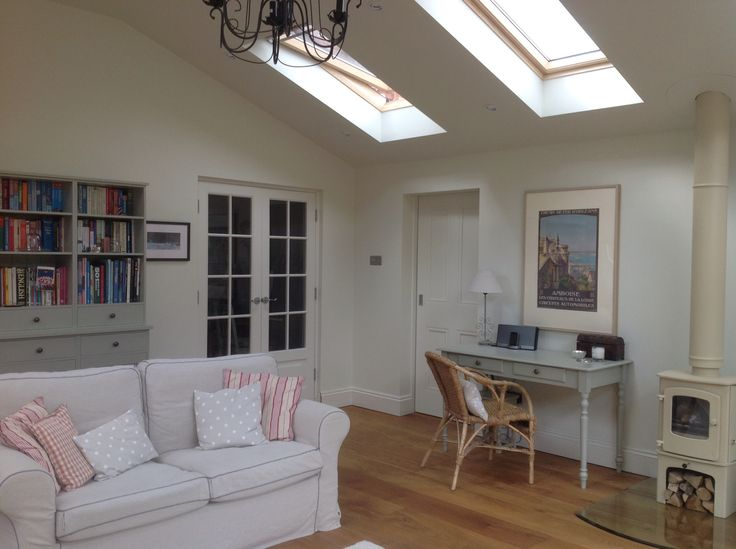 New Extension   Shelves And Desk Painted In Stone   The Dormy House.