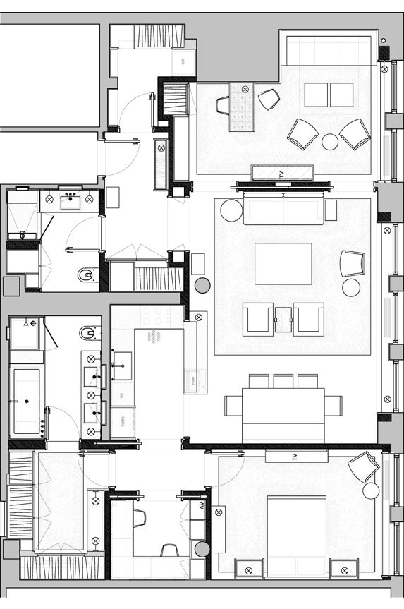 floor plan for a Manhattan residence