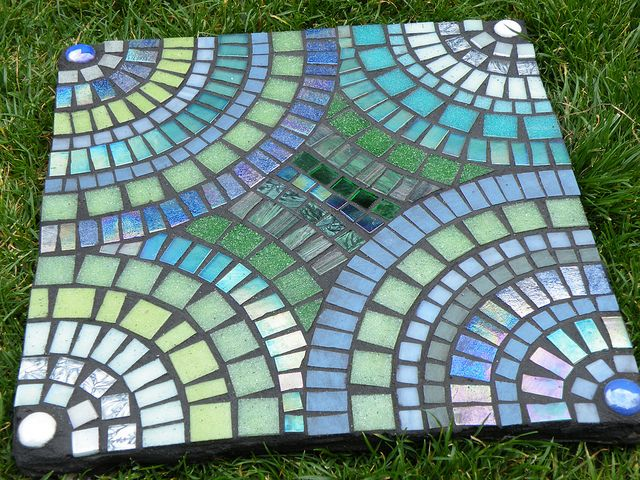 Superb Stepping Stone Ideas | Mosaic Stepping Stone 7 | Flickr   Photo Sharing!