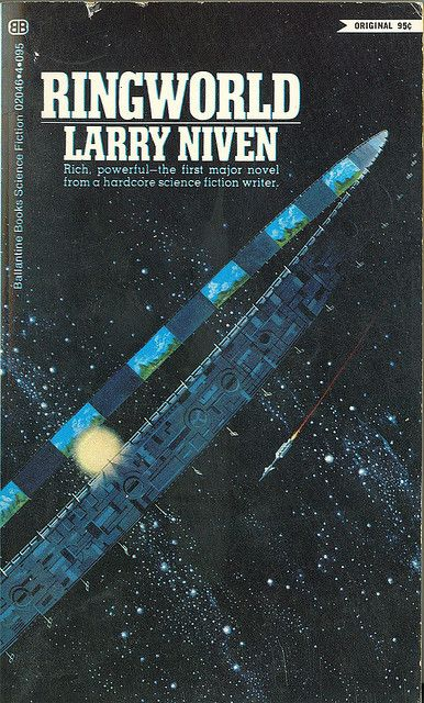 Larry Niven - Ringworld (Ballantine 4360) on Flickr.Via Flickr: PBO; first printing; precedes both UK and US hardcovers 1970 Cover by Dean Ellis