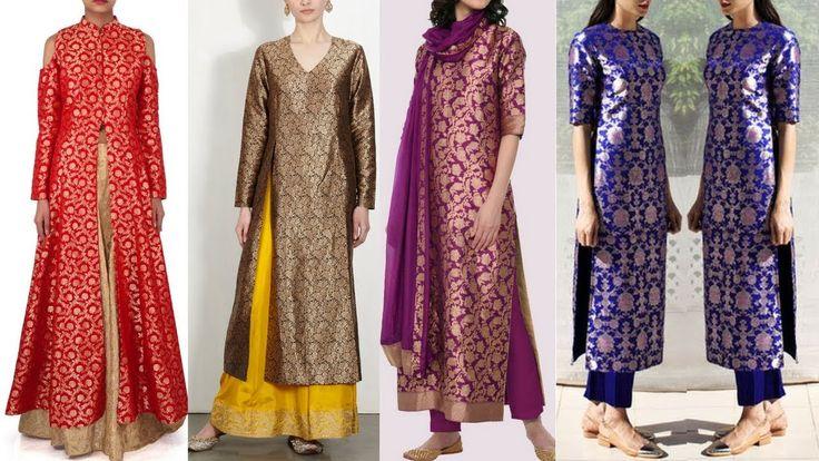 Best Brocade Kurti Designs | Best brocade suit designs party wear | Bana...