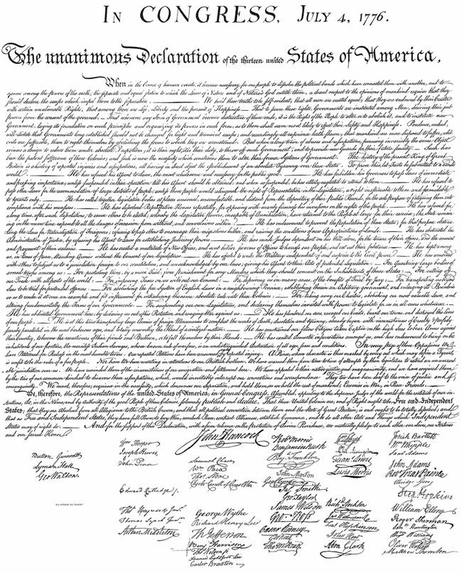 Coloring Page Of Declaration Of Independence