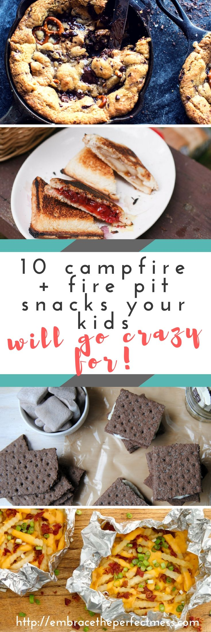 It just isn't a camping trip without campfire snacks. The best part about this is there's no reason you can't make these in the backyard fire pit!