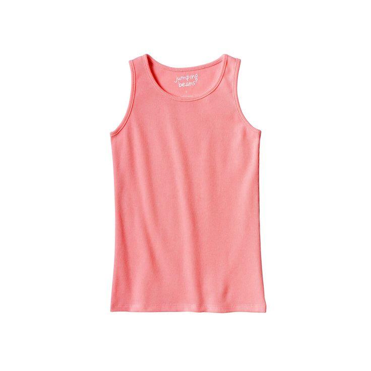Girls 4-10 Jumping Beans® Basic Ribbed Tank Top, Girl's, Size: 10, Lt Orange