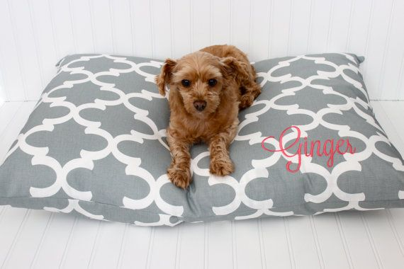 Dog Bed Cover Personalized Dog Pillow Cover от LittleYellowNest