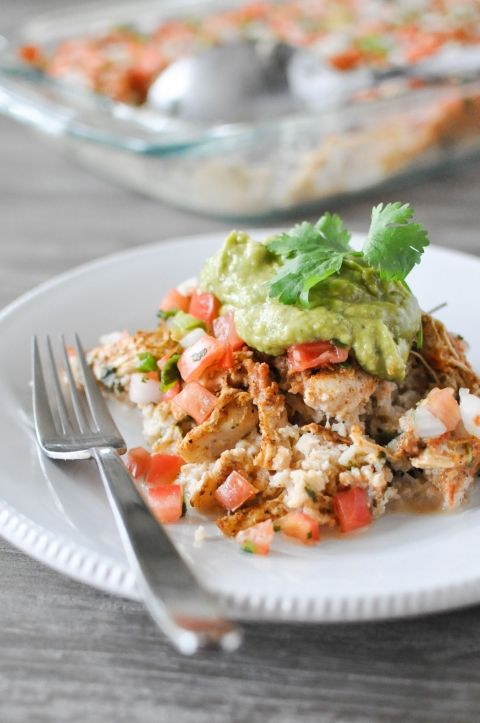 Chicken Taco Casserole | Fed+Fit