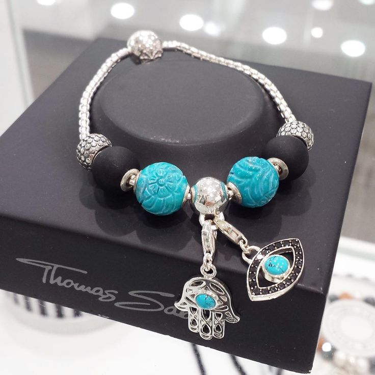 The evil eye charm and hand of Fatma (also known as Hamsa) are images recognized and used as a sign of protection in many societies throughout history, they are believed to provide defense against the evil eye. #thomassabo #karmabeads #karma #charmclub #turquoise #sterlingsilver #jewellery #protection #handoffatma #hamsa #hamsahand #elitejewellery  (at Box Hill Central Shopping Centre)