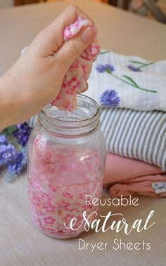 DIY Homemade Fabric Softener and Dryer Sheets