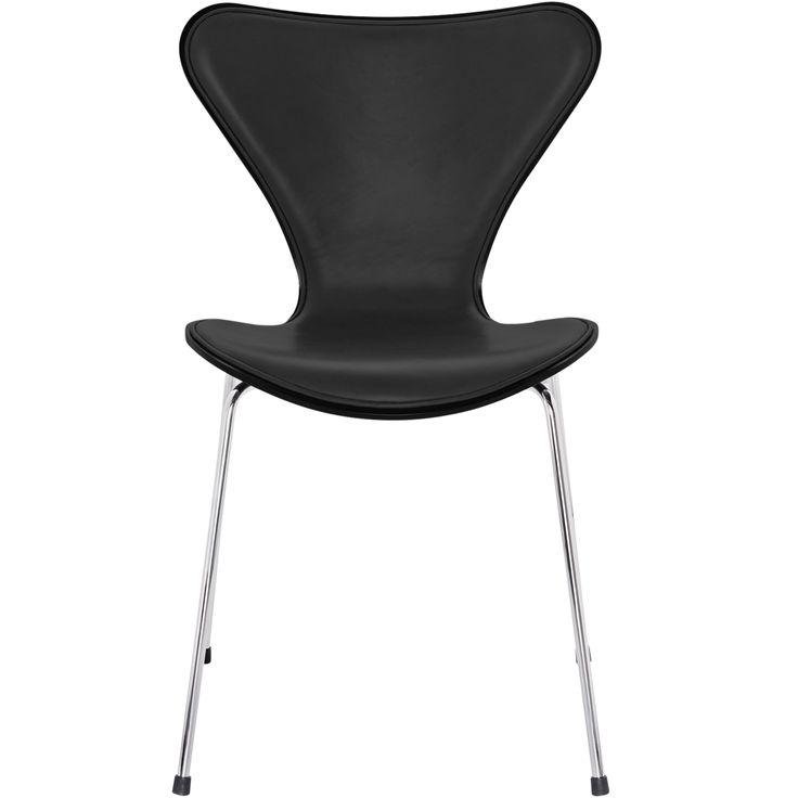 Sjuan stol, krom, svart, svart läder i gruppen Möbler / Stolar & Pallar / Stolar hos RUM21.se (130008)