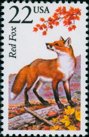 awesome red fox stamp I love it a lot