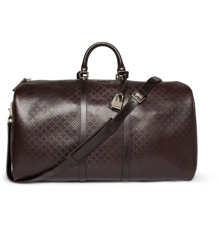 Gucci Textured-Leather Holdall