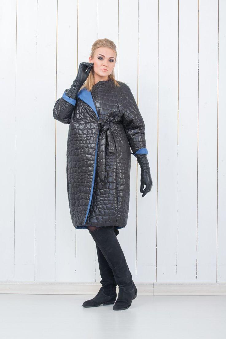 Пальто стеганое - Полный Fashion
