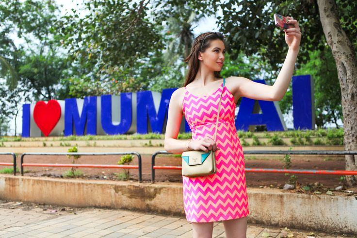Ready to popularize new fashion wherever you go? Be the trendsetter in town wearing a chevron print knee-length dress, braided hair, platform sandals and a trendy, cut-corners inspired mini #slingbag across your body, available at any Exclusive Baggit stores or www.baggit.com.  Shop Here : https://goo.gl/AcKoNJ