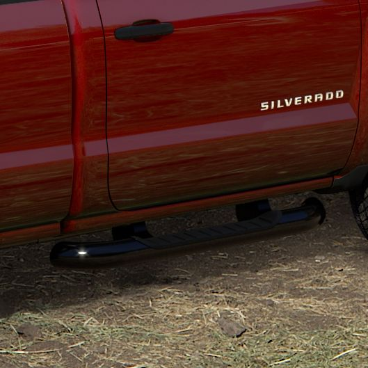 2016 #Silverado 2500 Reg Cab Assist Steps, 4in Round, Black, #Diesel: Stylish Assist Steps with textured step pads make it easier to get in and out of your Silverado. Available in 4-inch round with black powder coat finish. Finish adds great style and excellent corrosion protection.