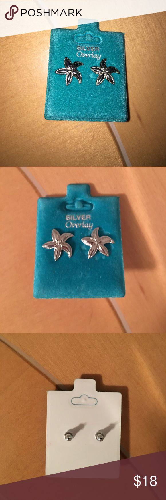 Starfish Earrings Silver Starfish Earrings Brand New Never Worn Jewelry  Earrings