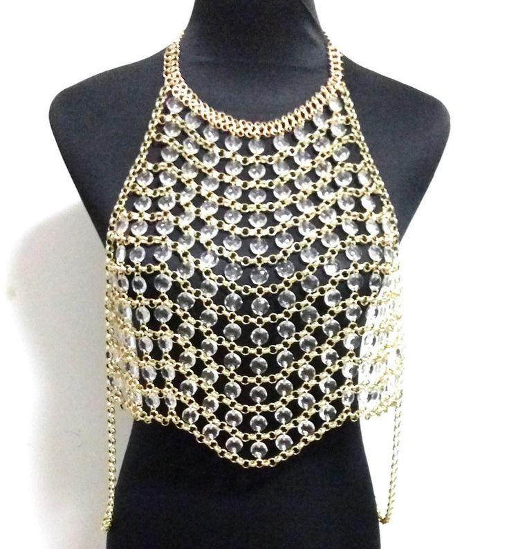 Jeweled Rhinestone Bra Top