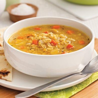 Soupe d'orge et lentilles à l'indienne - Recettes - Cuisine et nutrition - Pratico Pratique