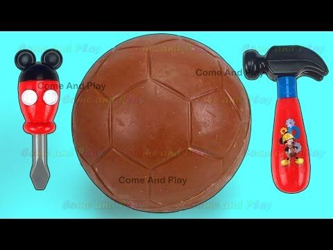 Chocolate Egg Ice Cream Surprise Toys Disney Toy Story Cars TMNT Learn Colors Play Doh Pasta Maker - YouTube
