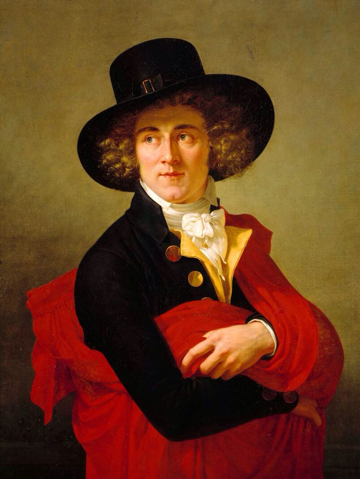 François-Xavier Fabre,Portrait of a Young Man Wearing a Red Cape and Large Hat