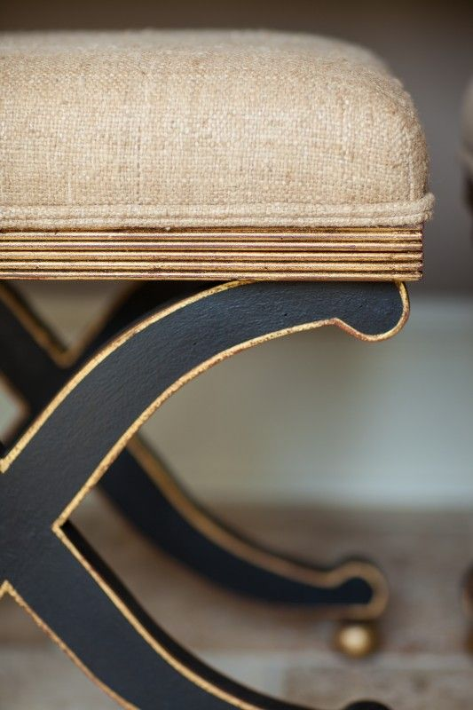 Detail of the gold trim which really makes the black pop
