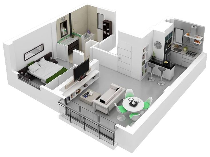 Best 25+ One bedroom house plans ideas on Pinterest | 1 bedroom ...