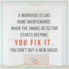 It's important to work on your marriage when it needs it, rather than giving up and starting over with someone else!