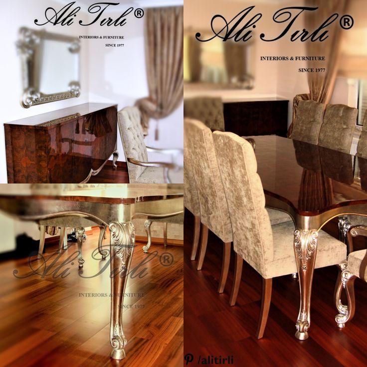 """""""Please DM for your inquiries."""" """"Modellerimiz hakkında detaylı bilgi  için bize DM yoluyla ulaşabilirsiniz."""" #alitirli #diningroom #versace #architecture #yemekodasitakimi #mimar #yemekmasasi #livingroomdecor #sandalye #konsol #istanbul #chair #artdeco #interiors #tablo #bufe #furniture #basaksehir #florya #mobilya #perde #yesilkoy #bursa #duvarkagidi #kumas #azerbaijan #ayna #luxury #luxuryfurniture #interiorsdesign"""