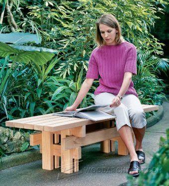 Bench Seat Plans - Outdoor Furniture Plans & Projects | WoodArchivist.com