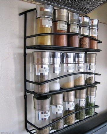 wall mount spice rack organization around the house pinterest. Black Bedroom Furniture Sets. Home Design Ideas
