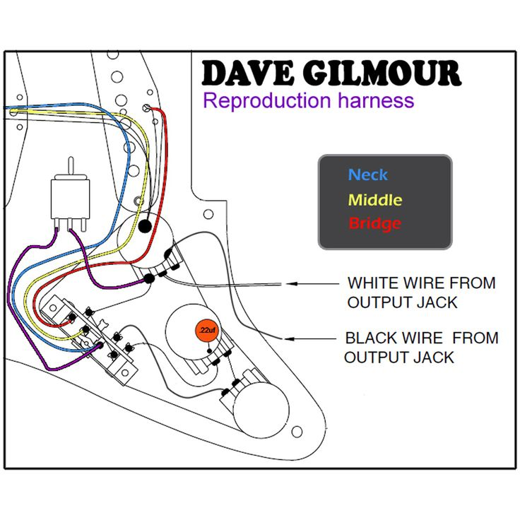 Dave Gilmour Deluxe Pre-Wired Stratocaster Wiring Kit With ...