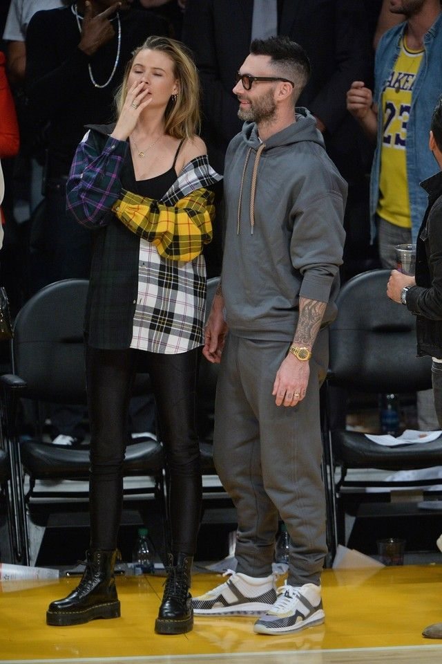 Adam Levine wearing John Elliott LeBron Icon Sneakers Mode  Fashion