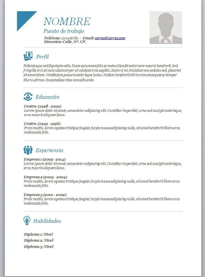 Modelos De Curriculum Vitae En Word Para Completar  Modelos De Resume