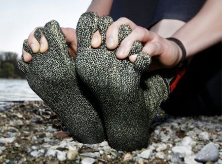 Kevlar Socks so you can be barefoot, without worrying about sharp objects breaking skin!