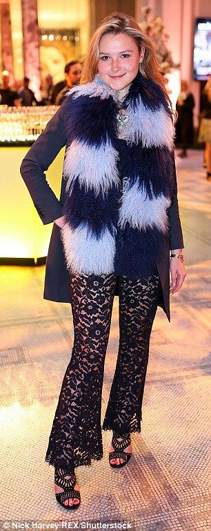Fashionista: Former Made in Chelsea star Amber Atherton opted for a flamboyant style in a ...