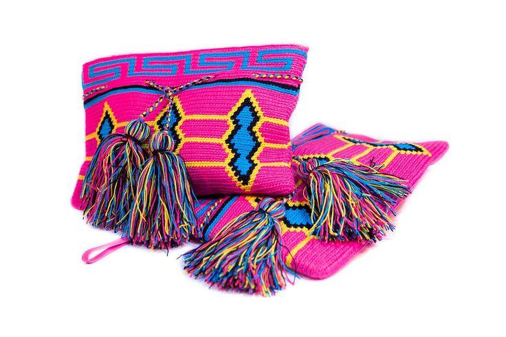 Neon Wayuu Clutch
