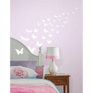 Svítící samolepky motýlci
