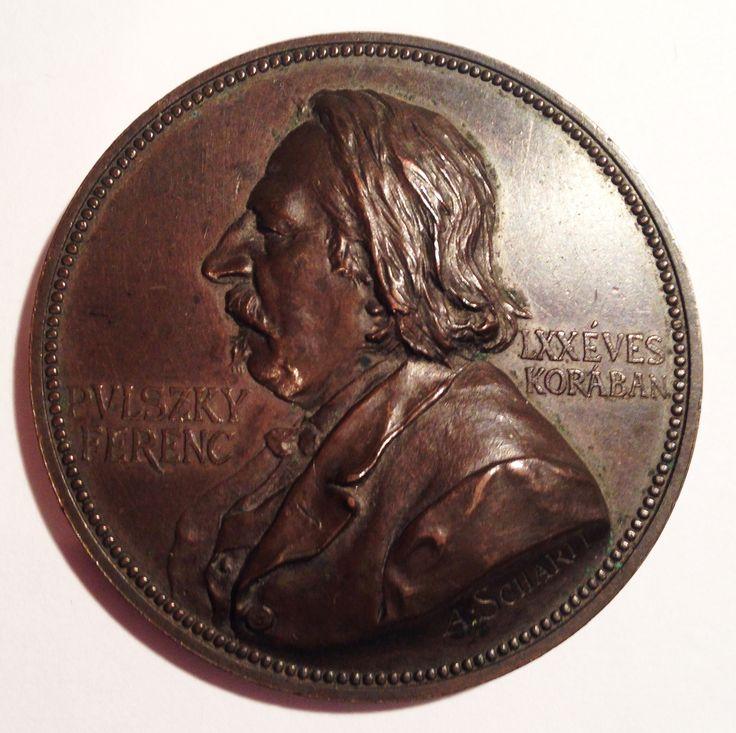 Pulszky Ferenc emlékérem, a oldal / Francis Pulszky's commemorative medal, a side