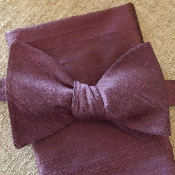 Purple Silk Bow Tie Purple Bow Tie Purple Wedding Bow Tie
