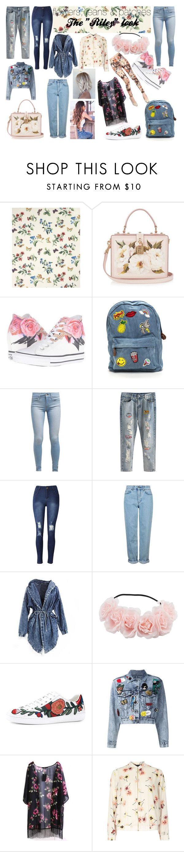 """""""Riley"""" by maiaytina on Polyvore featuring moda, Country Curtains, Dolce&Gabbana, Converse, Levi's, Topshop, Gucci, Alice + Olivia, Dorothy Perkins y Winter"""